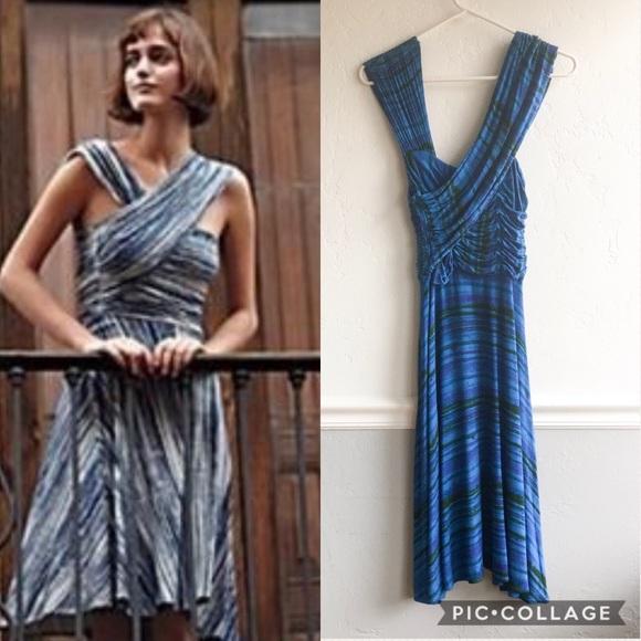3609198dfb45 Anthropologie Dresses & Skirts - Anthro BLUE Plenty Tracy Reese Dreamy Drape  Dress
